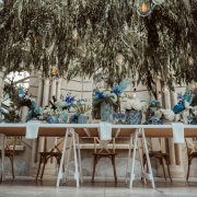 hanging decor, hanging greenery, naked bulbs - Shepstone Gardens and The Great Hall