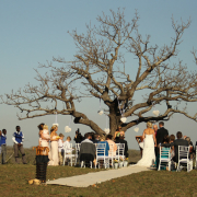 outdoor ceremony, safari wedding - Thanda Safari