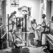 bride and bridesmaids, getting ready - The Hout Bay Manor