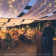 draping, fairy lights - The Mosaic Wedding Company