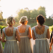 bridesmaid dress, hair