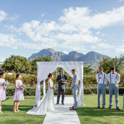 mountain view, outside ceremony - The Mosaic Wedding Company