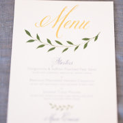 menu, stationery - The Mosaic Wedding Company