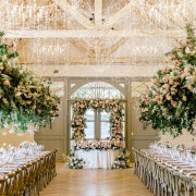 fairy lights, floral decor, hanging decor, hanging florals, wedding decor - The Mosaic Wedding Company