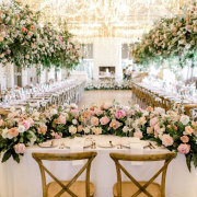fairy lights, floral decor, hanging decor, hanging florals - The Mosaic Wedding Company