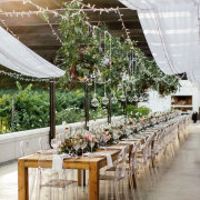 hanging decor, wedding decor - The Mosaic Wedding Company