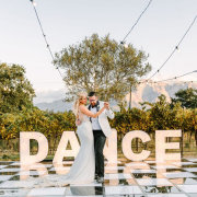 bride and groom, bride and groom, bride and groom, dance floor, first dance, first dance, first dance, first dance, outdoor reception - The Mosaic Wedding Company