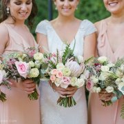 bouquet, bridesmaid dress - The Mosaic Wedding Company