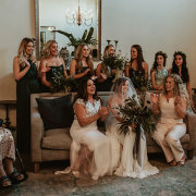 bride and bridesmaids - The Mosaic Wedding Company