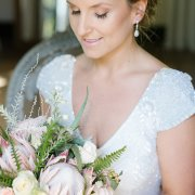 bouquet, earrings, makeup - The Mosaic Wedding Company