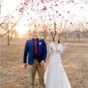 bride and groom, bride and groom, confetti - The Nutcracker Country Venue