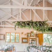 fairy lights, floral runner, hanging decor, hanging floral, hanging greenery - The Nutcracker Country Venue