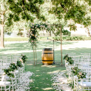 floral arches, outdoor ceremony - Webersburg