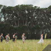 bride and bridesmaids - Winery Road Forest