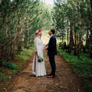 bride and groom, forest - Winery Road Forest