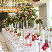 fairy lights, floral center piece, table decor, table decor, table setting - Zandri Du Preez Photography