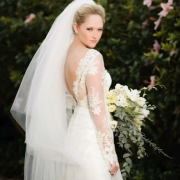 bouquet, lace, veil, wedding dress - Didi Couture