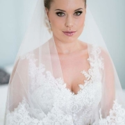 makeup, veil, wedding dress - Didi Couture