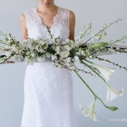 flowers, wedding dress - Didi Couture