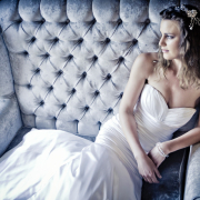 headpiece, wedding dress - Didi Couture