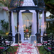 candles, decor, gazebo, outdoor ceremony, kzn venues - The Oyster Box