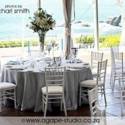decor, table setting, white, beach