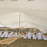 aisle, chairs, tent