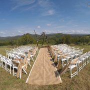 aisle, outdoor ceremony - ETC Events