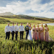 bride, brides maids, groomsmen, grrom