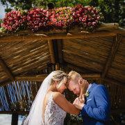 bride, groom, proteas - Oppie Plaas Venue
