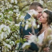 bride, greenery, groom - Oppie Plaas Venue