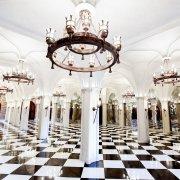 castle, chandelier, dance floor, ballroom