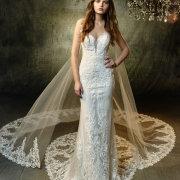 lace, lace, veil, wedding dresses - ENZOANI