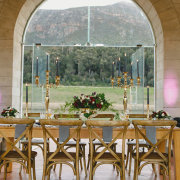 mountain view, table decor, table decor - La Roche Estate