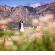 bride and groom, feature shot, mountain