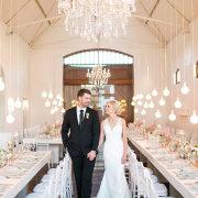 bride and groom, bride and groom, bride and groom, chandeliers, hanging decor, naked bulbs - Zorgvliet