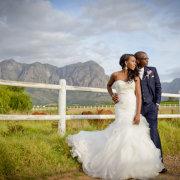 bride and groom, mountain, wedding dress