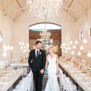 bride and groom, bride and groom, hanging decor, naked bulbs - Zorgvliet