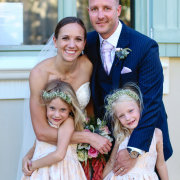 bride and groom, bride and groom, flower girls - Cathé Pienaar Photography