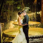 bride and groom, fountain - Chez Charlene
