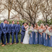 bridal party, bride and groom, bride and groom, kiss, kiss, suits - VlakVark Productions