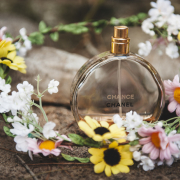flower crown, perfume