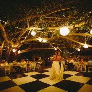 first dance, outdoor reception - De Hoop
