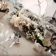 centrepiece, flowers, table setting - Tres Jolie Wedding and Function Venue