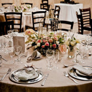 centrepiece, glassware, table setting - Tres Jolie Wedding and Function Venue