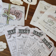stationery, menu