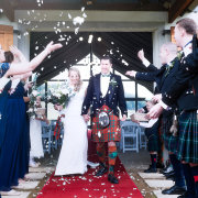 bride and groom, kilt - Fordoun Hotel & Spa