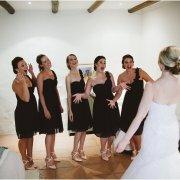 black, bridesmaids dresses
