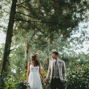 bride, flower crown, groom, topmidlands - Cranford Country Lodge