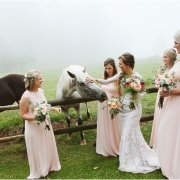 bride and bridesmaids - Cranford Country Lodge